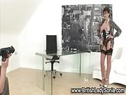 Mature femdom brit posing