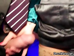 Cute Drunk Brunette Girl Is Jerking Cock At The Party By DrunkGroupFuck