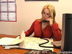 Sarah Vandella Vs Alec Knight - Naughty Office - Alec Wont Calm Down, So In Order To Bring Peace To