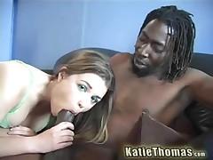 Katie Thomas Vs Byron Long - Black Cum On My Feet