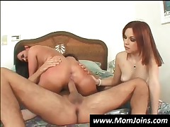 Sweet Teen And Her Mom Get Mouths Fucked Hard