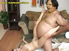 Horny Hairy Fat Guy Fucking A Hot Latina