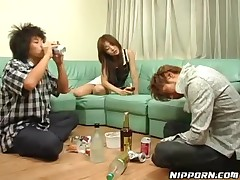 Japanese Slut In Threesome