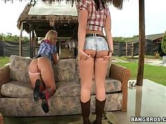 Emma Heart And Sasha Knox - Ass Parade - Farmland Ass!!!