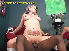 Candy Monroe - Black Stretches Her,and White Cuck Watching