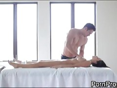 Breanne Benson - Horny Maseuse Works His Way Into Girls Tight Pussy