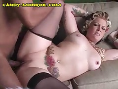 Candy Monroe - Cuckold Gets To See And Eat Black Cum Off