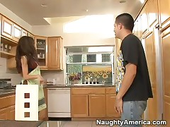 Hunter Bryce - Brunette MILF Gets Boned In The Kitchen