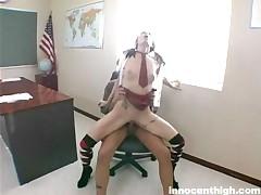 Jaylynn Sinns - Slender Teen Pumping Hard On Her Professors Cock