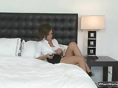 Two Sexy Brunette Babes Love Oiling Each Others Horny Tight Pussy By WhenWomenPlay
