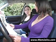 Mom And Daughter Tease A Dude With Their Assets