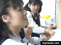 Horny Japanese Schoolgirls Have Fun With Teacher