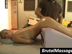 Nicole Ray - Seductive Blonde Hottie Gets Hot Body Oil Massaged