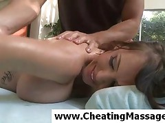 Jenna Presley - Sublime Brunette Girl Gets Body Massaged With Oil