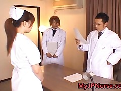 Ai Sayama - Ai Sayama Pretty Asian Nurse Shows Off Cute Tits 1 By MyJPNurse