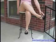 FJF Daisy in Cuban Heel Pantyhose