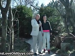 Horny Grandpa Loves To Have Sex With Cute Teen Girls Outdoor By TeensLoveOldGuys