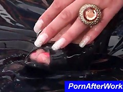 Slut Spread Cream On Her Clothes And Play With Vibrator