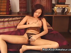Petite Asian Amateur Teen In Black Lingerie Dildo Fucking 1 By RealAsianAmateur