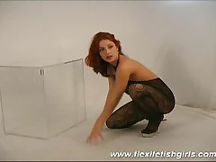 Flexi Fetish Girl With Big Tits Spreading Her Legs