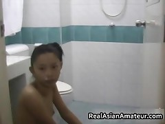 Small Perky Tits Asian Sucking Cock In The Shower 4 By RealAsianAmateur