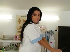 Victoria Rose - Skinny Latina Victoria Rose Nurse Uniform And Big Dildo