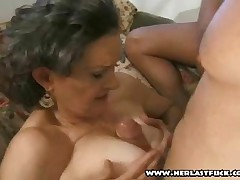 Silver Granny Fucked By Two Studs - Part 2