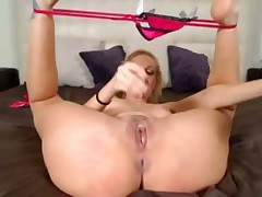 Blond Cam Girl Fucking Ass and Pussy