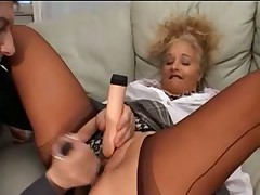 Fully Fashioned Nylon Stockings Fingering and Toys