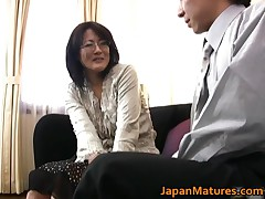 Mature Real Asian Woman Getting Her Titties Licked 1 By JapanMatures