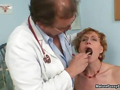 Old Housewife Taking Her Clothes Getting Ready To Be Examined By The Pussy Doctor By MaturePussyExam