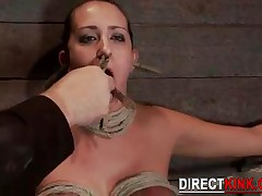 Sexy White Chick Fetish Crazy Breast Bondage And Extreme Face Pain