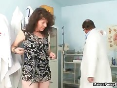 Horny Old Grandma Gets Her Tight Asshole Inspected By A Doctor By MaturePussyExams