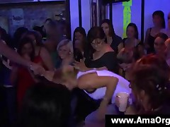 Topless Party Bitch Dancing With Stripper