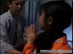 Cutie Japanese Patient Gets Facialized In Gangbang
