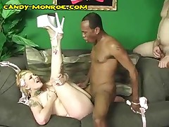 Candy Monroe - Candys Cuckold Has To Clean Up Black Cum