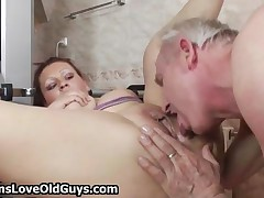 Horny Grandpa Fucking A Cute Teen Girl Her Tight Pussy In The Gym By TeensLoveOldGuys