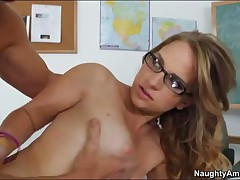 Katie Zane Vs Justin Magnum - Naughty Bookworms - Professor Magnum Has Called His Student Katie Zane