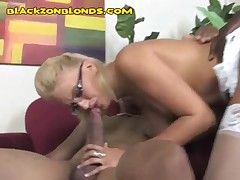 BBCs Go Into Both Blondes Mouth And Pussy
