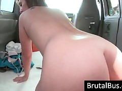 Small Breasted Bitch Riding A Massive Cock In Bus