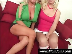 Slutty Mom And Teen Girl Showing Tits And Pussies