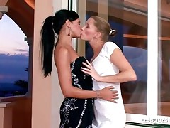 Ashley And Latika - Lesbian Lovers Strip Off Their Dresses To Lick And Massage One Anothers Beautifu