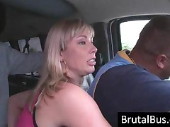 Hot Tattooed Blonde Bitch Gets Ass Licked In The Bus