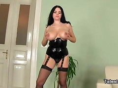 Milf With Huge Natural Boobs Wearing A Corset