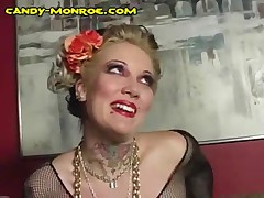 Candy Monroe - Candy Makes A Cuck Wear Fishnet Stockings