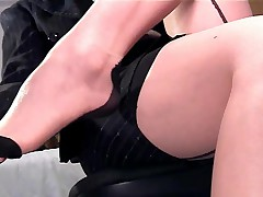 Amber - Closeup Panty Play And Masturbation In Thigh High Stockings