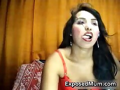 Latina MILF Undresses In Hot Webcam Show 1 By ExposedMum