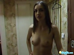 Pretty Petite Is Toying Her Pussy As She Is Smoking A Cigarette And Talking