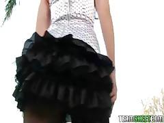Ashlyn Rae - Self Desire With Her Stockings On, Sexy Brunette Babe Ashlyn Rae Outdoors Doing Stripte