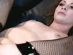 Chloe Nicole - Petite Redhead Chloe Fucked In Fishnets And Stilettos